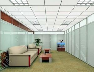 70平米现代简约风格密集式办公室吊顶设计