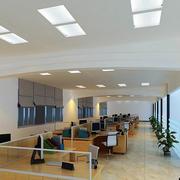 80平米现代简约风格办公室吊顶装修效果图