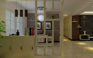 118平米中式风格客厅隔断造型效果图