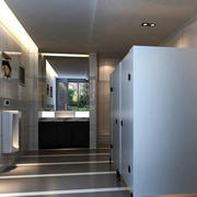 卫生间简约瓷砖装饰
