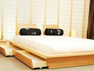 120平米日式清新原木榻榻米卧室装修效果图