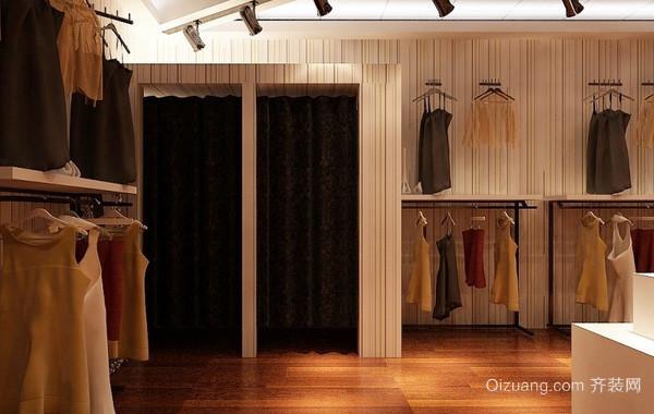 100平米时尚精致女装服装店装修效果图