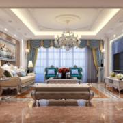2016精致的欧式现代小户型客厅装修设计效果图