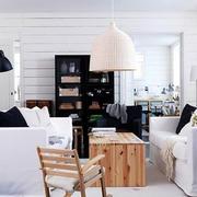 小户型简约风格客厅创意灯饰装饰