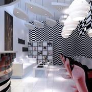 创意个性简约风格理发店装饰