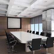 会议室简约密集式吊顶装饰