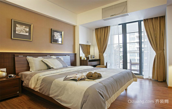 90平米大户型经典的欧式卧室飘窗装修效果图