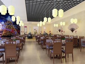 新中式60平米小饭店装修效果图