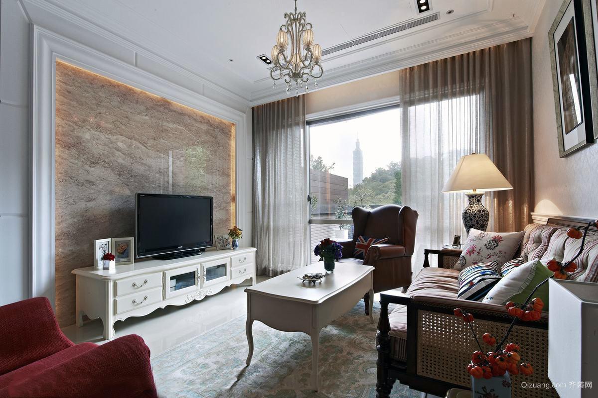 公寓新款客厅电视背景墙装修效果图