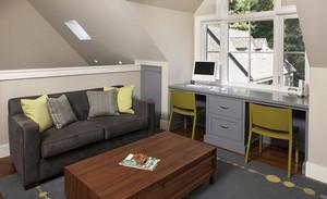 乡村朴素复式楼阁楼小书房装修效果图