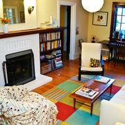 客厅简约风格书房书柜装饰
