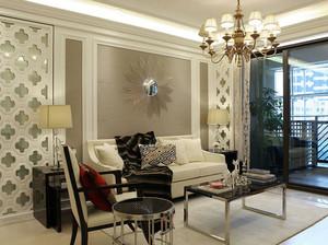 120平米复式楼欧式简约风格客厅样板间装修图