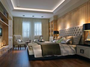 120平米大户型精美的简欧风格卧室装修效果图