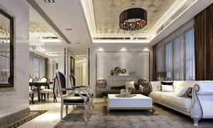 欧式风格大户型客厅沙发装修效果图