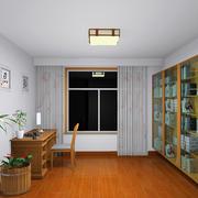 小户型清新风格书房设计装修效果图