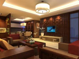120平米大户型精致的中式客厅装修效果图