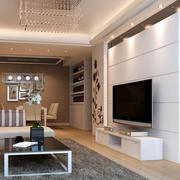 现代简约风格公寓电视背景墙