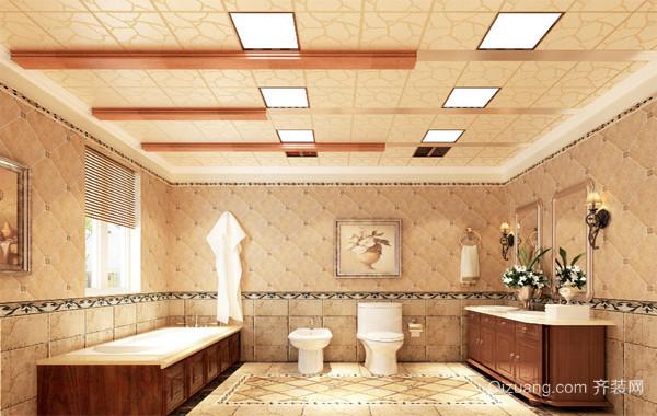 90平米大户型温馨的欧式卫生间吊顶装修效果图