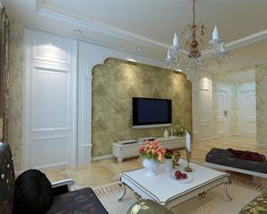 复式楼大型欧式奢华风格家装客厅电视背景墙