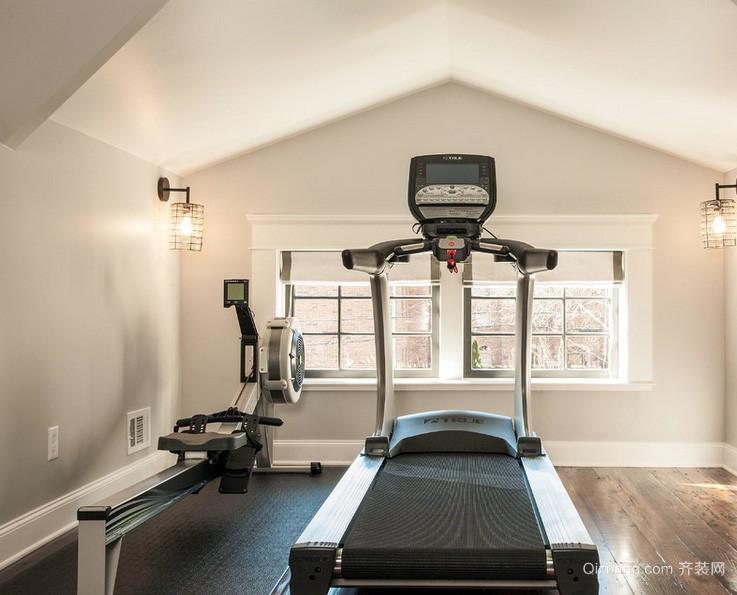 2016都市复式楼阁楼健身房装修效果图