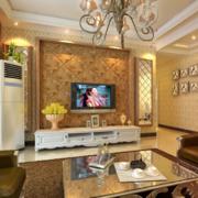2016精致的欧式大户型客厅电视背景墙效果图