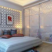 时尚123平米两居室卧室玻璃隔断墙设计图