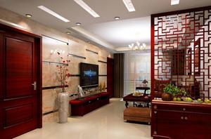 118平米梦幻系列客厅隔断造型效果图