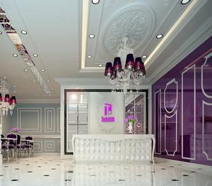 时尚都市婚纱店吊灯装修效果图