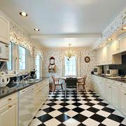 欧式建筑小别墅奢华整体式厨房装修效果图