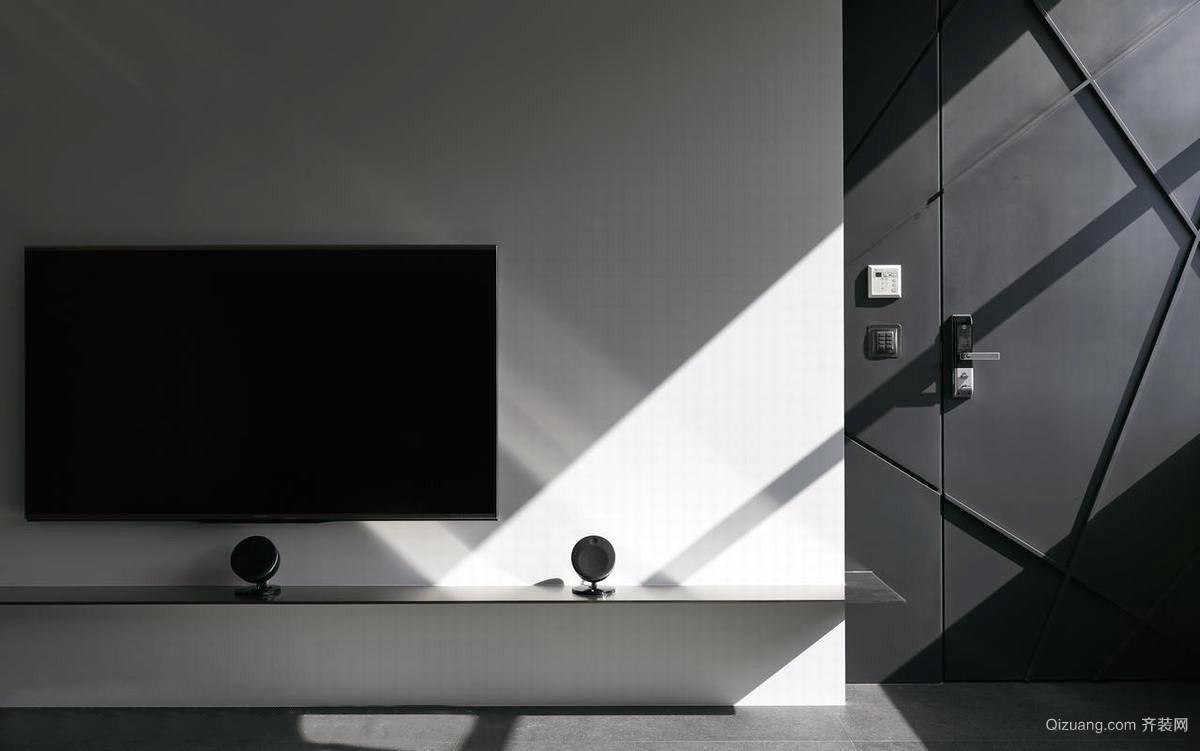 三居户型客厅电视背景墙装修效果图