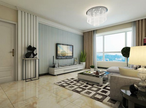 140平米大型现代简约单身公寓客厅装修效果图