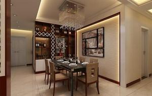 跃层宜家风格餐厅背景墙效果图