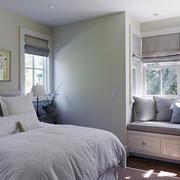 纯色调卧室设计图