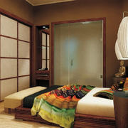 日式深色系原木榻榻米装饰