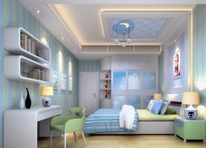 2016现代动感的大户型儿童房卧室吊顶装修效果图