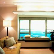 2016大户型欧式唯美的客厅飘窗装修效果图