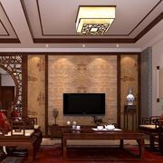 中式文雅联排别墅客厅图片大全