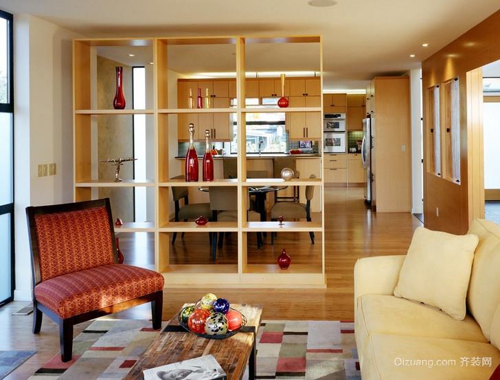 120平米创意型客厅隔断造型效果图