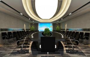 会议室简约风格吊顶装饰