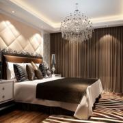 完美独特的欧式大户型卧室软包背景墙装修效果图