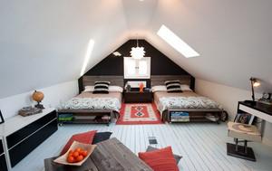 朴素40平米小阁楼卧室装修效果图