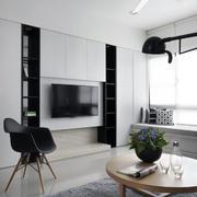 别墅小户客厅电视墙装修效果图