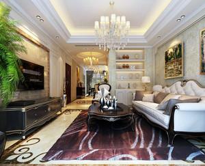 欧式三居室新房客厅沙发装修效果图