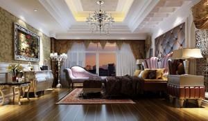 奢华联排别墅欧式大卧室图片大全