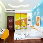 110平米大户型欧式儿童房背景墙装修效果图