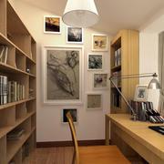 别墅豪华型书房设计装修效果图