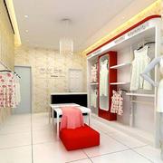 现代简约风格暖色服装店装饰
