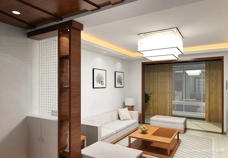 别墅时尚风格客厅隔断造型效果图