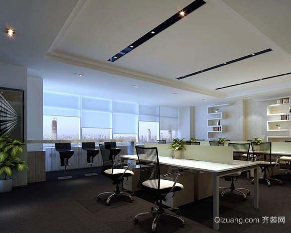 70平米后现代风格多人办公室吊顶装修图