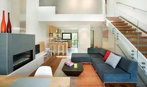 现代简约联排小别墅客厅图片大全